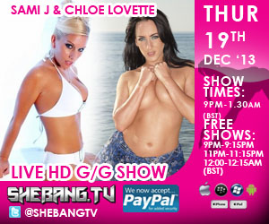 300x2504 Sami J & Chloe Lovette Shebang TV Hardcore Girl/Girl Live Show Tonight