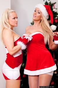 TelephoneModels.com Lucy Zara Frankie Babe Christmas Shoot 1 200x300 Lucy Zara & Frankie Babe Girl/Girl Christmas Shoot