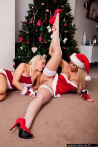 TelephoneModels.com Lucy Zara Frankie Babe Christmas Shoot 4 200x300 Lucy Zara & Frankie Babe Girl/Girl Christmas Shoot