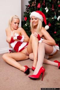 TelephoneModels.com Lucy Zara Frankie Babe Christmas Shoot 5 200x300 Lucy Zara & Frankie Babe Girl/Girl Christmas Shoot