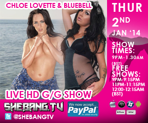 300x250 Chloe Lovette & Bluebell Shebang TV Hardcore Girl/Girl Live Show Tonight