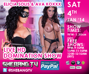 300x2501 Elicia Solis & Ava Koxxx Shebang TV Live Hardcore Girl/Girl Domination Show Tonight