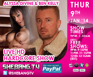300x2503 Alyssa Divine & Ben Kelly Shebang TV Live Hardcore Boy/Girl Show Tonight