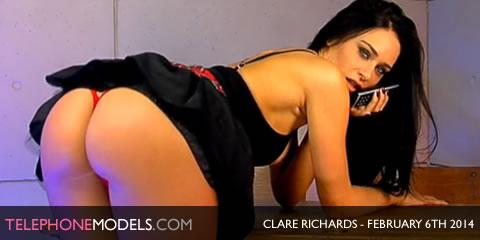 TelephoneModels.com Clare Richards Studio 66 TV February 6th 2014 Clare Richards   Studio 66 TV   February 6th 2014
