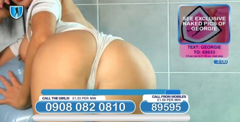 TelephoneModels.com 04 03 2014 01 08 16 480x244 Georgie Darby   Babestation TV   March 4th 2014