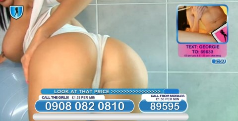 TelephoneModels.com 04 03 2014 01 08 25 480x244 Georgie Darby   Babestation TV   March 4th 2014