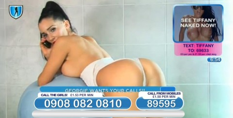 TelephoneModels.com 04 03 2014 01 13 02 480x244 Georgie Darby   Babestation TV   March 4th 2014