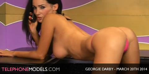 TelephoneModels.com Georgie Darby Babestation TV March 20th 2014 Georgie Darby   Babestation TV   March 20th 2014