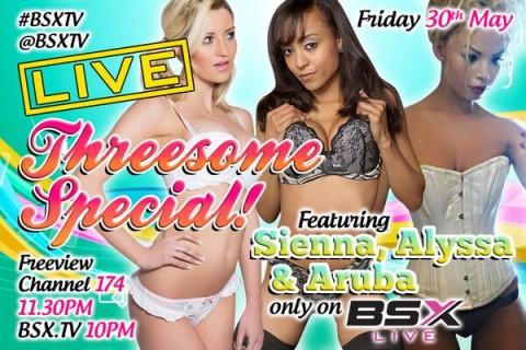 Bo5HJ JCIAEtB0M 480x320 Sienna Day, Alyssa Divine & Aruba J Babestation X BSX Live Hardcore Girl/Girl/Girl Sex Show Tonight