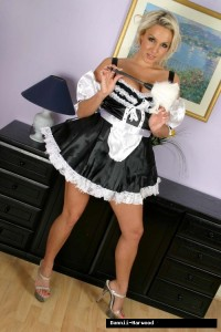 TelephoneModels.com Dannii Harwood Naughty Maid Shoot 1 200x300 Dannii Harwood Naughty French Maid Strip Shoot
