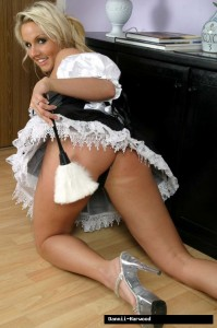 TelephoneModels.com Dannii Harwood Naughty Maid Shoot 2 199x300 Dannii Harwood Naughty French Maid Strip Shoot
