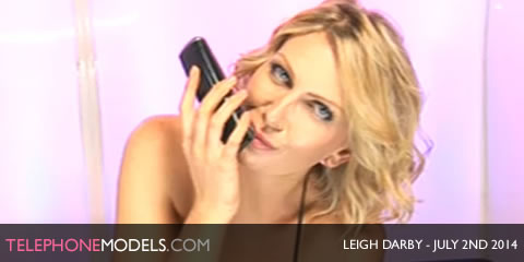 TelephoneModels.com Leigh Darby Babestation TV July 2nd 2014 Leigh Darby   Babestation TV   July 2nd 2014